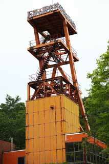 photo,material,free,landscape,picture,stock photo,Creative Commons,The history village of the coal, I roll it up, tower, Stairs, Rust