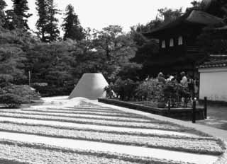 photo, la mati�re, libre, am�nage, d�crivez, photo de la r�serve,Monticule de sable, Ginkakuji, jardin, ,
