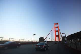 foto,tela,gratis,paisaje,fotograf�a,idea,Uno Golden Gate Bridge, El Golden Gate Bridge, Los estrechos, Autopista, Atracci�n tur�stica
