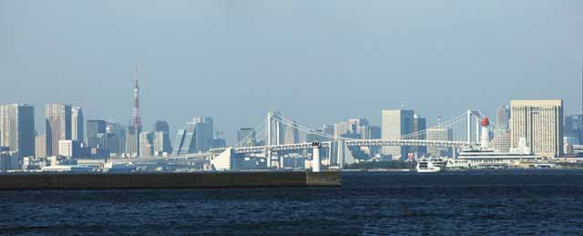 photo,material,free,landscape,picture,stock photo,Creative Commons,The scenery of Tokyo Bay, passenger ship, port, high-rise building, Funenokagakukan