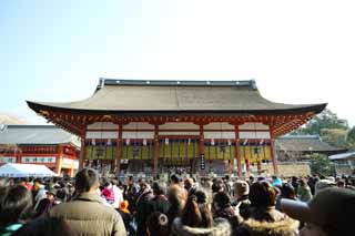 photo, la mati�re, libre, am�nage, d�crivez, photo de la r�serve,Fushimi-Inari Taisha temple, La visite de nouvelle ann�e � un temple shinto�ste, La c�r�monie de nouvelle ann�e, Inari, renard