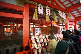 photo, la mati�re, libre, am�nage, d�crivez, photo de la r�serve,Fushimi-Inari Taisha temple, La visite de nouvelle ann�e � un temple shinto�ste, Je suis peint en rouge, Inari, renard