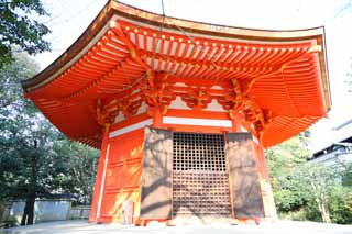 photo,material,free,landscape,picture,stock photo,Creative Commons,Tofuku-ji Temple Aizome temple, Chaitya, An octagonal small hexagonal building, I am painted in red, The God of Love