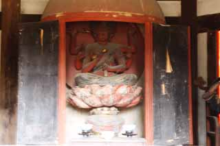 photo,material,free,landscape,picture,stock photo,Creative Commons,Tofuku-ji Temple Aizome temple, Chaitya, Buddhist image, I am painted in red, The God of Love