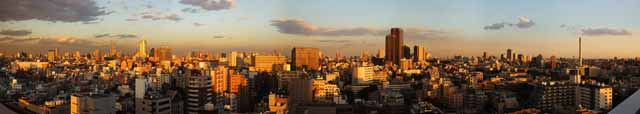 photo,material,free,landscape,picture,stock photo,Creative Commons,Tokyo of the dusk, Roppongi Hills, building, Tokyo Tower,