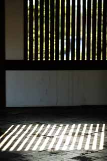 photo,material,free,landscape,picture,stock photo,Creative Commons,Tofuku-ji Temple founder's shrine, Chaitya, lattice window, light, shadow