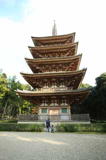 photo, la mati�re, libre, am�nage, d�crivez, photo de la r�serve,Temple Daigo-ji cinq pagode Storeyed, Chaitya, Je suis peint en rouge, deux mandala de mondes, Image du Bouddhisme �sot�rique japonaise