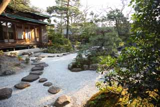 photo, la mati�re, libre, am�nage, d�crivez, photo de la r�serve,Hachiman-gu Temple, , paysage sec jardin japonais, Japonais jardine, La chauss�e