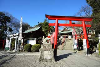 photo, la mati�re, libre, am�nage, d�crivez, photo de la r�serve,Sanko Inari temple, Singe temple Tabiko, divinit� gardienne, Inari, torii