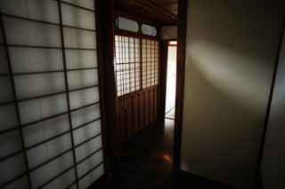 photo,material,free,landscape,picture,stock photo,Creative Commons,A person of Meiji-mura Village Museum east pine house, building of the Meiji, shoji, Japanese-style room, corridor