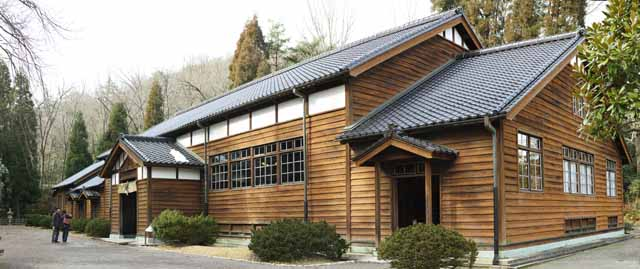 photo, la mati�re, libre, am�nage, d�crivez, photo de la r�serve,Le quatri�me Lyc�e du Mus�e du Village de Meiji-mura studio du dojo des arts martial [un temple silencieux], construire du Meiji, L'occidentalisation, B�timent du de l'ouest-style, H�ritage culturel