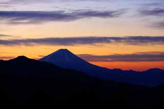 photo, la mati�re, libre, am�nage, d�crivez, photo de la r�serve,Le matin de Mt. Fuji, Mt. Fuji, L'incandescence du matin, nuage, couleur