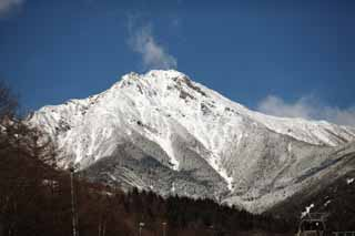 photo, la mati�re, libre, am�nage, d�crivez, photo de la r�serve,Mt rouge. Yatsugatake, Les Alpes, Escalade, montagne hivernale, La neige