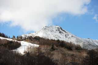 photo, la mati�re, libre, am�nage, d�crivez, photo de la r�serve,Une inclinaison, Yatsugatake, inclinaison, ski, piste