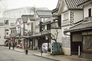 photo, la mati�re, libre, am�nage, d�crivez, photo de la r�serve,Magasin de souvenir Kurashiki, souvenir, Architecture de la tradition, enseigne, le mur a couvert des carreaux carr�s et articul� avec pl�tre lev�