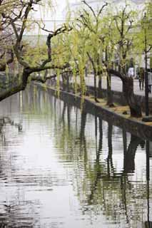 photo, la mati�re, libre, am�nage, d�crivez, photo de la r�serve,Kurashiki Kurashiki rivi�re, Culture traditionnelle, La surface de l'eau, Japonais fait une culture, L'histoire