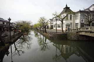 photo, la mati�re, libre, am�nage, d�crivez, photo de la r�serve,Kurashiki Kurashiki rivi�re, Culture traditionnelle, Architecture de la tradition, Japonais fait une culture, L'histoire