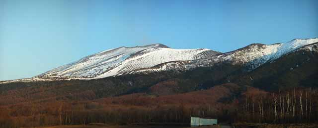 photo, la mati�re, libre, am�nage, d�crivez, photo de la r�serve,Mt. Asama-yama, Neige, volcan, Bave balancent, Lave